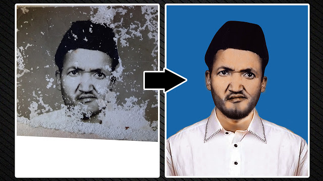 How to Repair Damaged Photo | Old Photo Restoration in Photoshop | Al Qadeer Studio