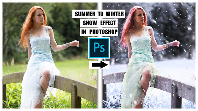 Transform Summer To Winter | Snow Effect in Photoshop  Learn how to transform a photo from summer to winter and add snow effect in Adobe Photoshop - Al Qadeer Studio