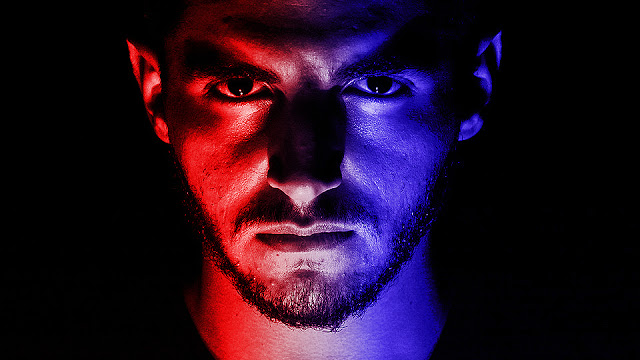 How to Create a Dramatic Red and Blue Face Portrait in Photoshop | Al Qadeer Studio