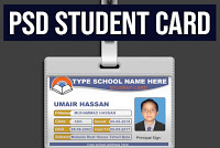 Download free ID cards for student in PSD | Al Qadeer Studio