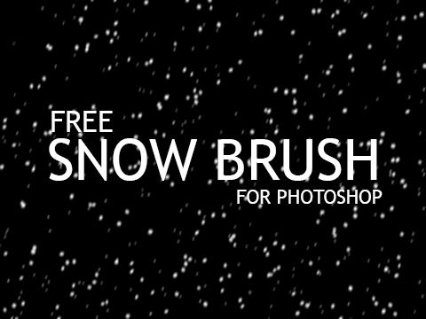Snow Photoshop Brush Free Download