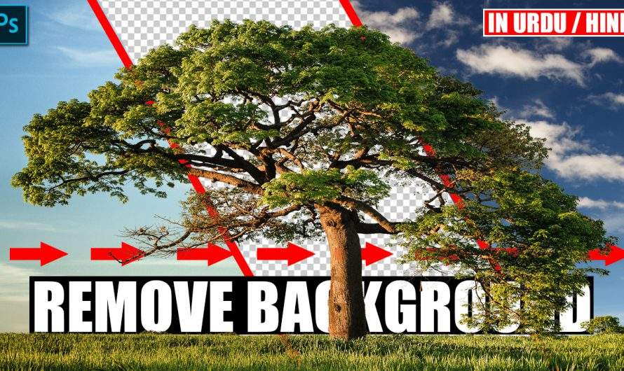 Quickly Remove Background Sky in Photoshop | Urdu Hindi