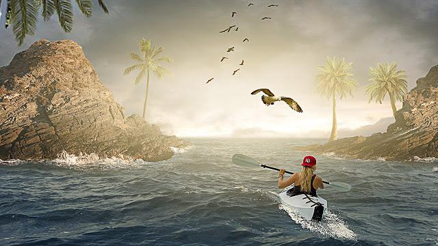 Girl on The Sea - Photoshop Photo Manipulation Tutorial