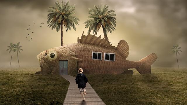 FISH HOUSE - Photoshop Manipulation Tutorial