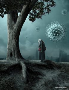 Photoshop Manipulation | Virus Around City