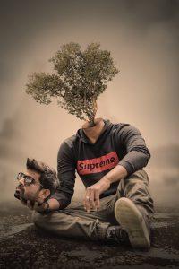 Human Tree - Head Cut Out Surreal Photoshop Manipulation Tutorial