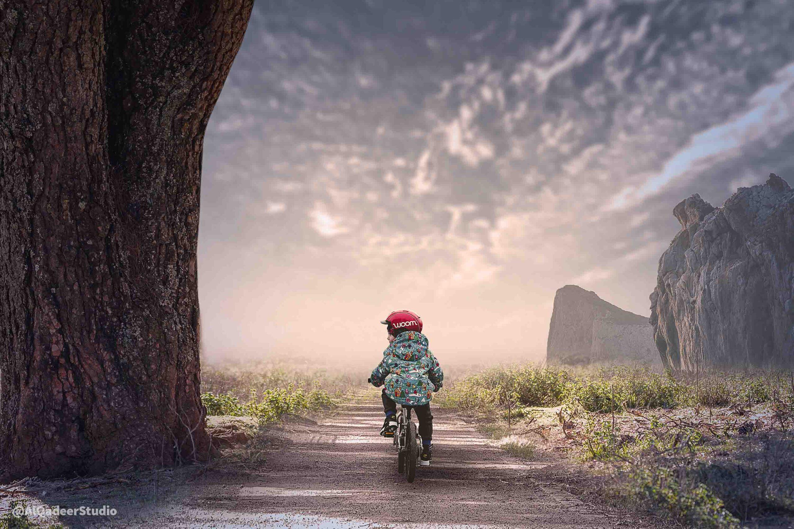 Photoshop Photo Manipulation Tutorial | Child Cycling