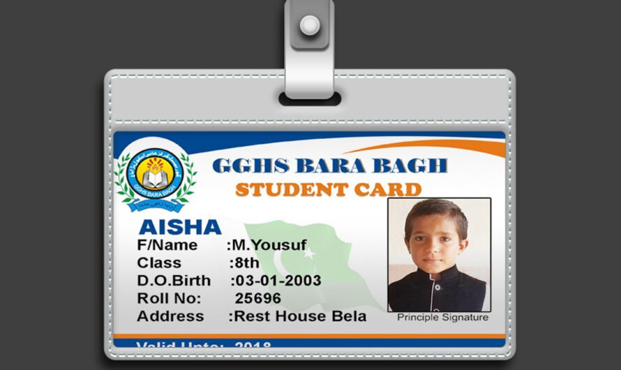 Student ID Card Free Download PSD